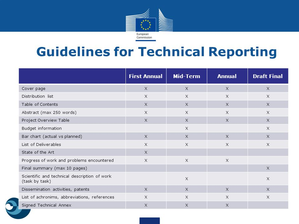 Guidelines for Technical Reporting
