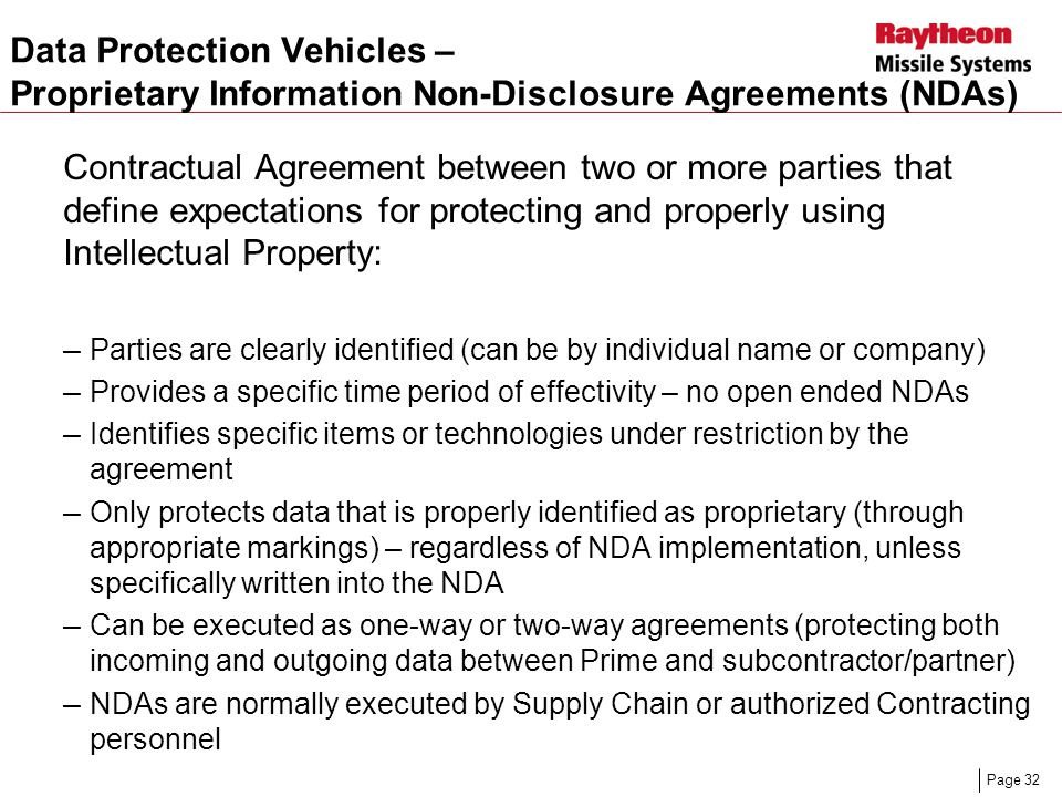Presentation Title April 13, 2017. Data Protection Vehicles – Proprietary Information Non-Disclosure Agreements (NDAs)