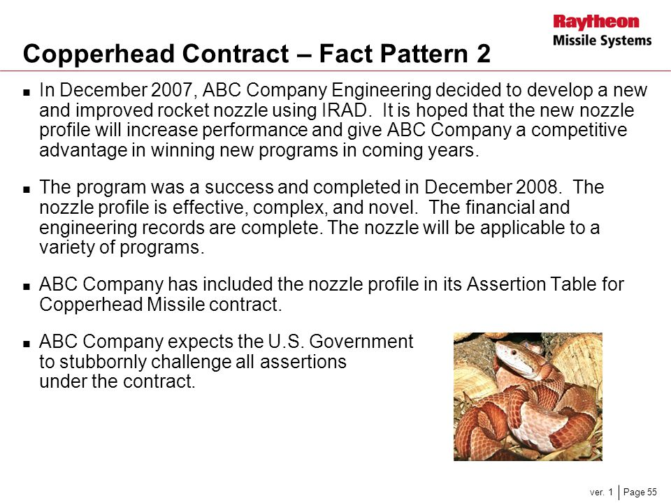 Copperhead Contract – Fact Pattern 2