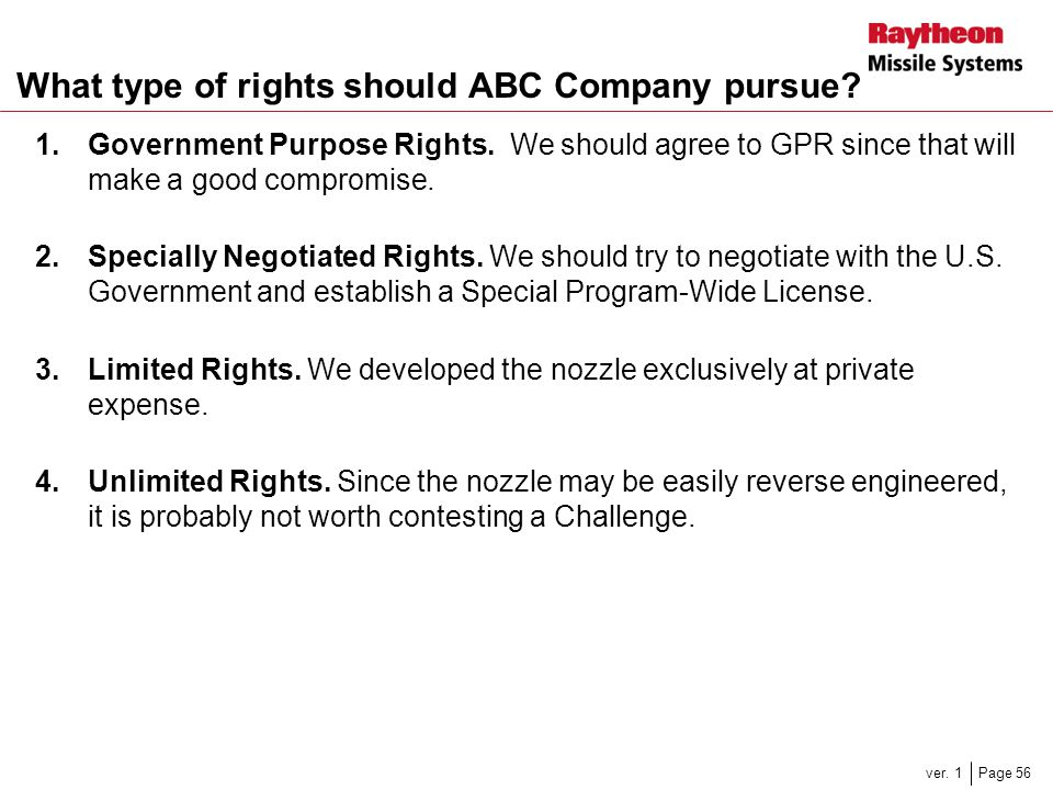 What type of rights should ABC Company pursue