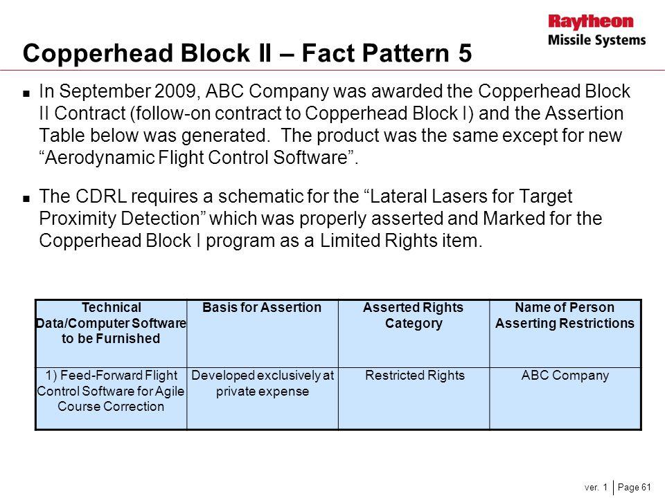Copperhead Block II – Fact Pattern 5