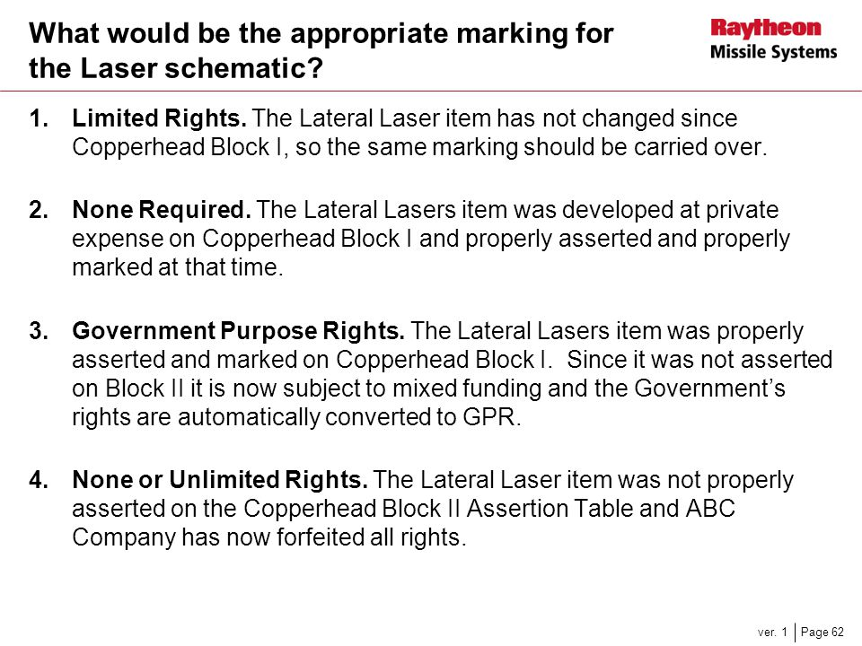 What would be the appropriate marking for the Laser schematic