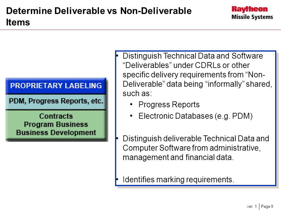 Determine Deliverable vs Non-Deliverable Items