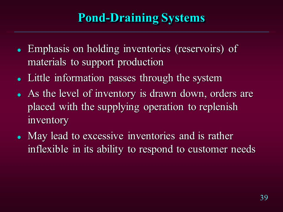 Pond-Draining Systems
