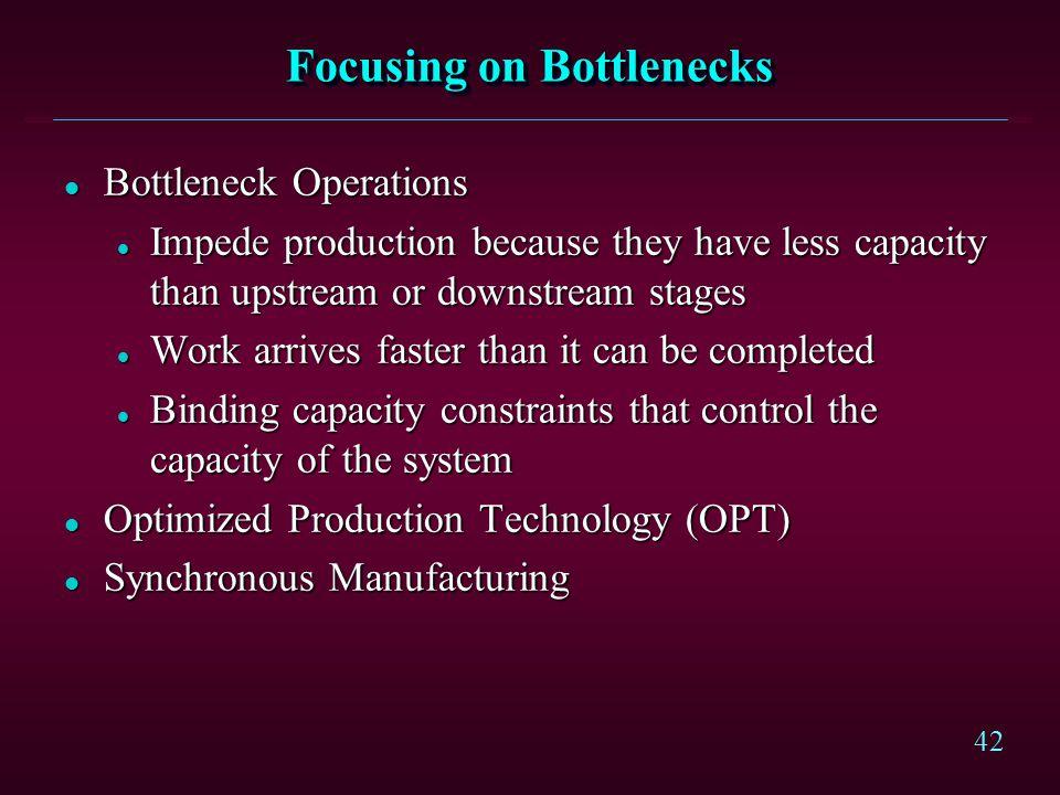 Focusing on Bottlenecks