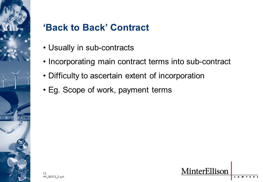 'Back to Back' Contract