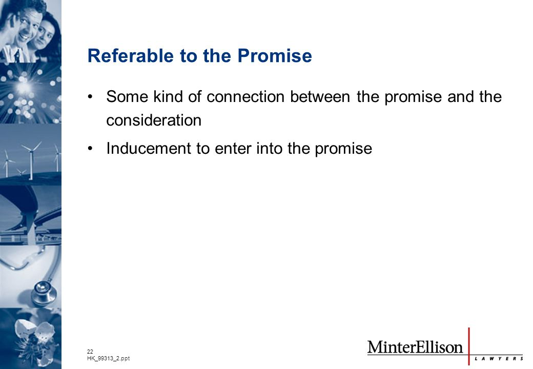 Referable to the Promise