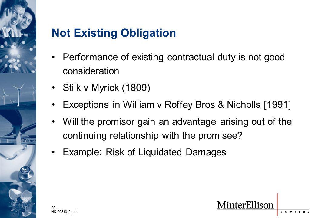 Not Existing Obligation