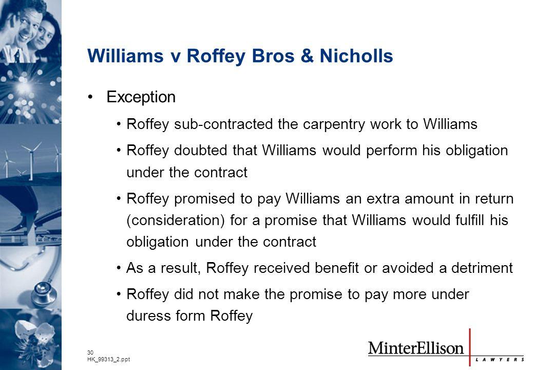 Williams v Roffey Bros & Nicholls
