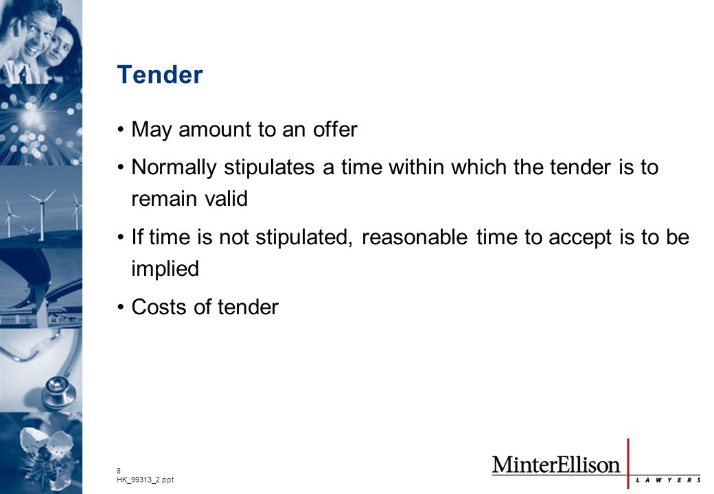 Tender May amount to an offer