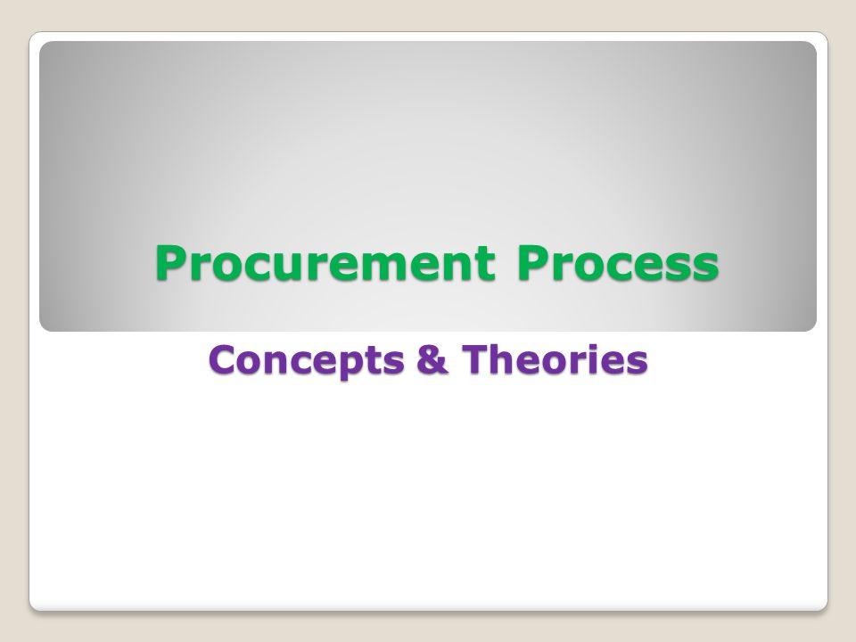 Procurement Process Concepts & Theories