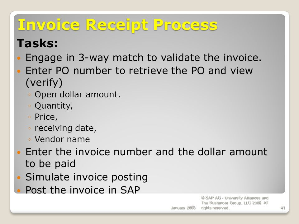 Invoice Receipt Process