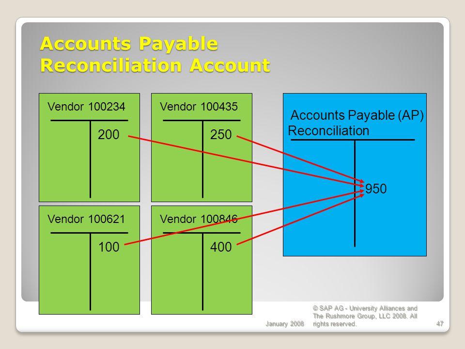 Accounts Payable Reconciliation Account