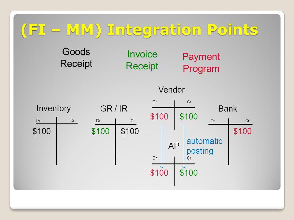 (FI – MM) Integration Points