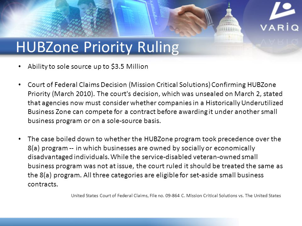 HUBZone Priority Ruling
