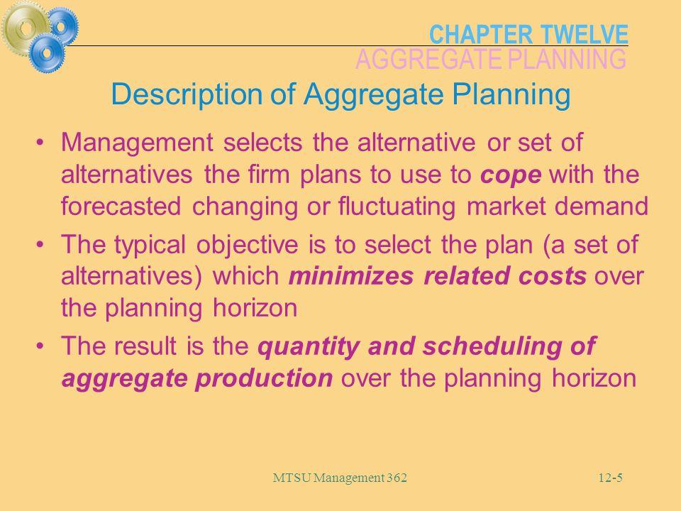 Description of Aggregate Planning