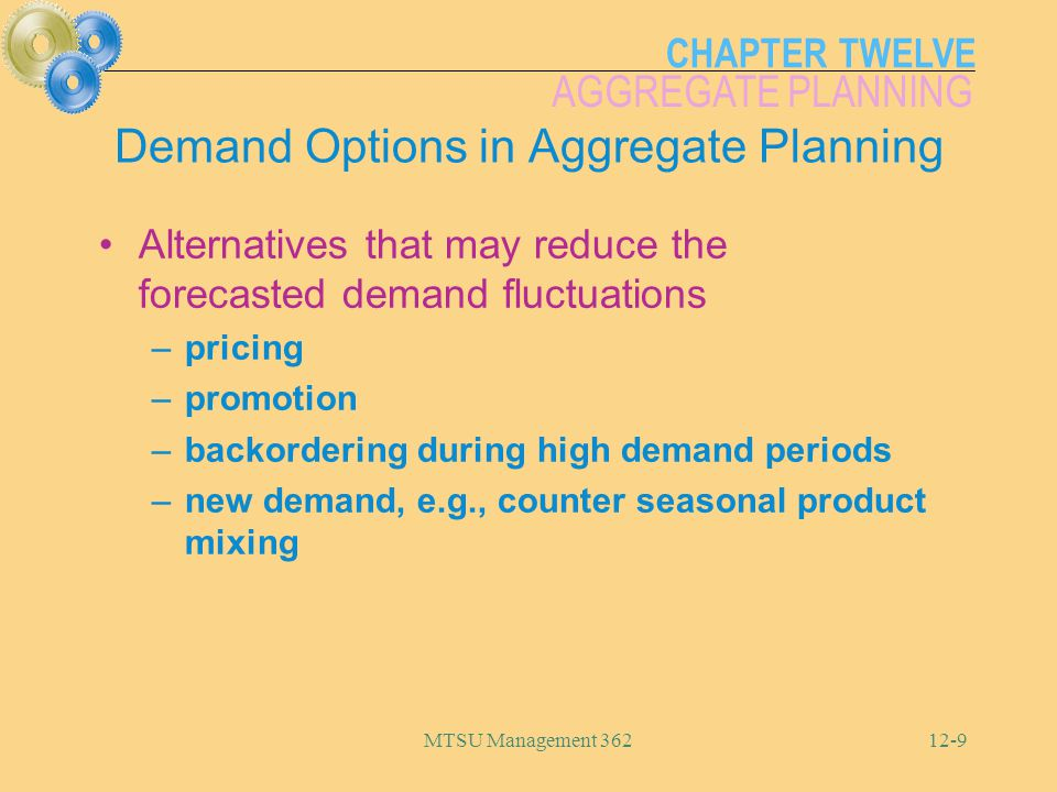 Demand Options in Aggregate Planning