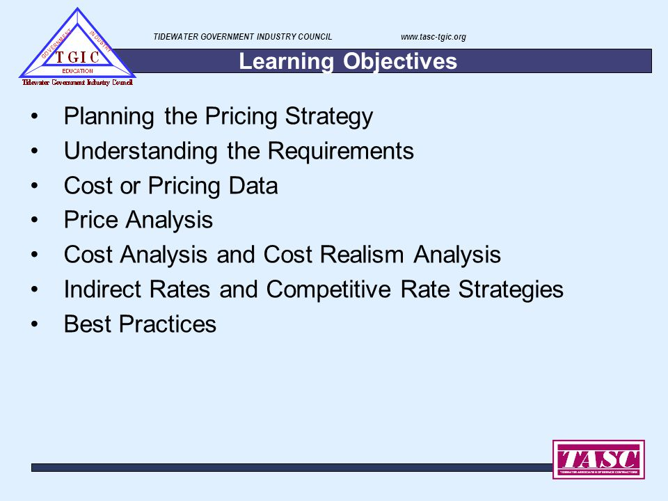 Planning the Pricing Strategy Understanding the Requirements