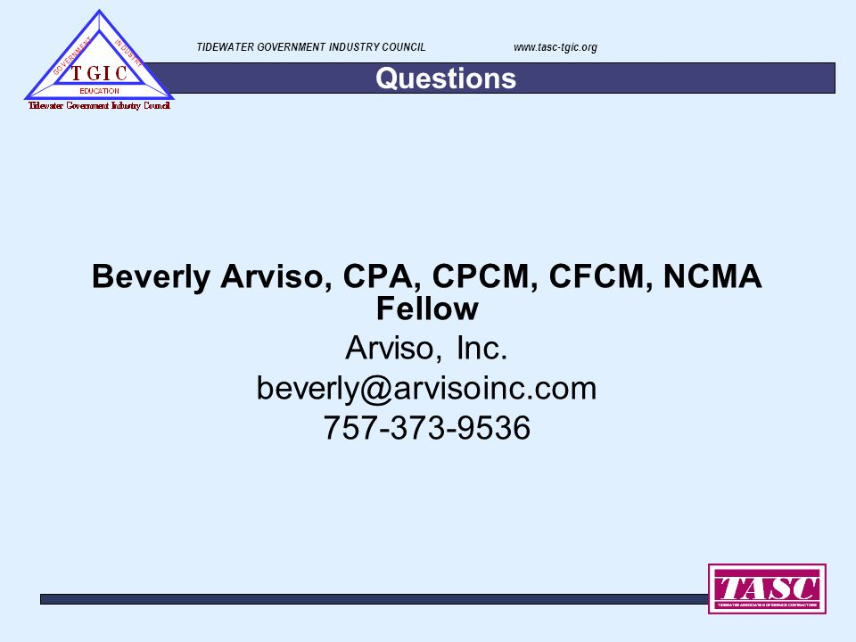 Beverly Arviso, CPA, CPCM, CFCM, NCMA Fellow