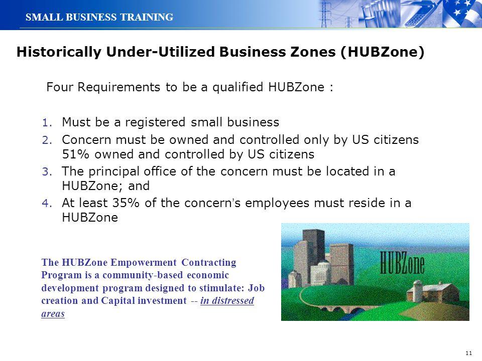 Historically Under-Utilized Business Zones (HUBZone)
