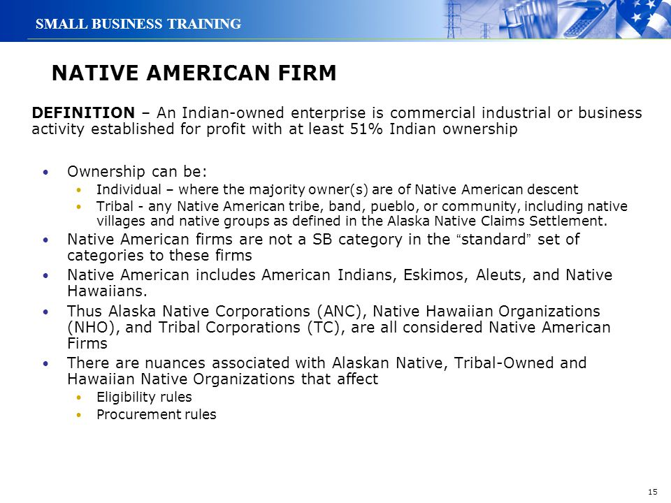 NATIVE AMERICAN FIRM