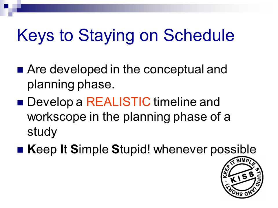 Keys to Staying on Schedule