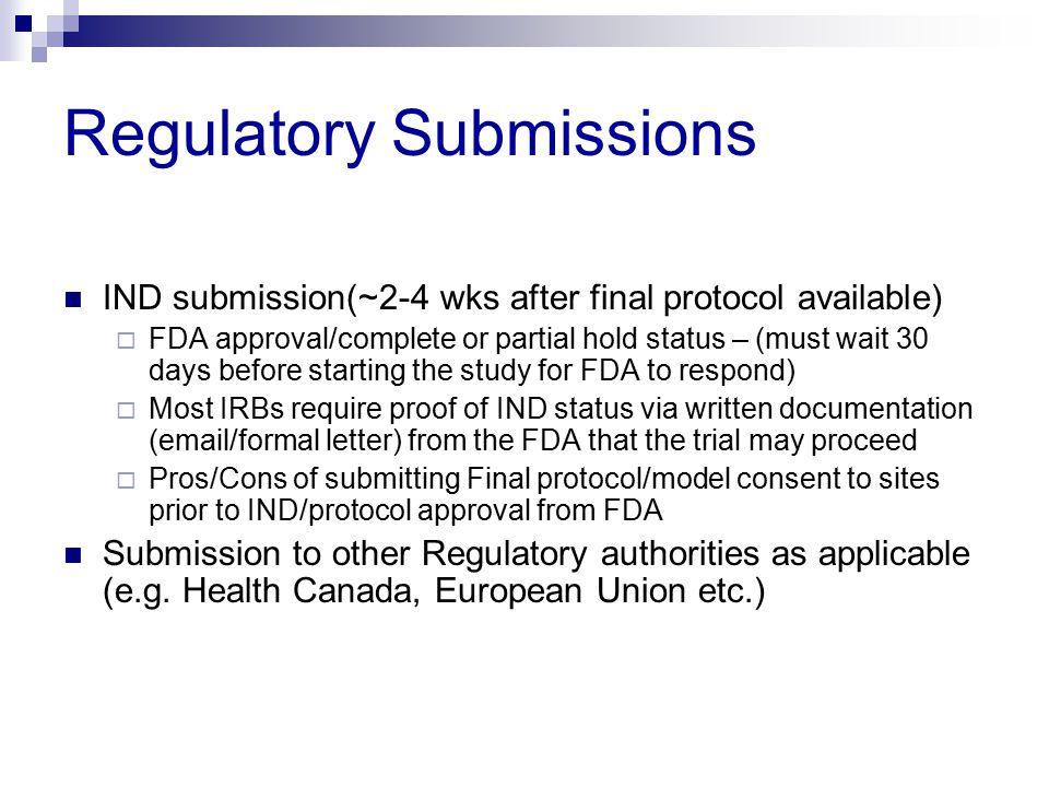 Regulatory Submissions