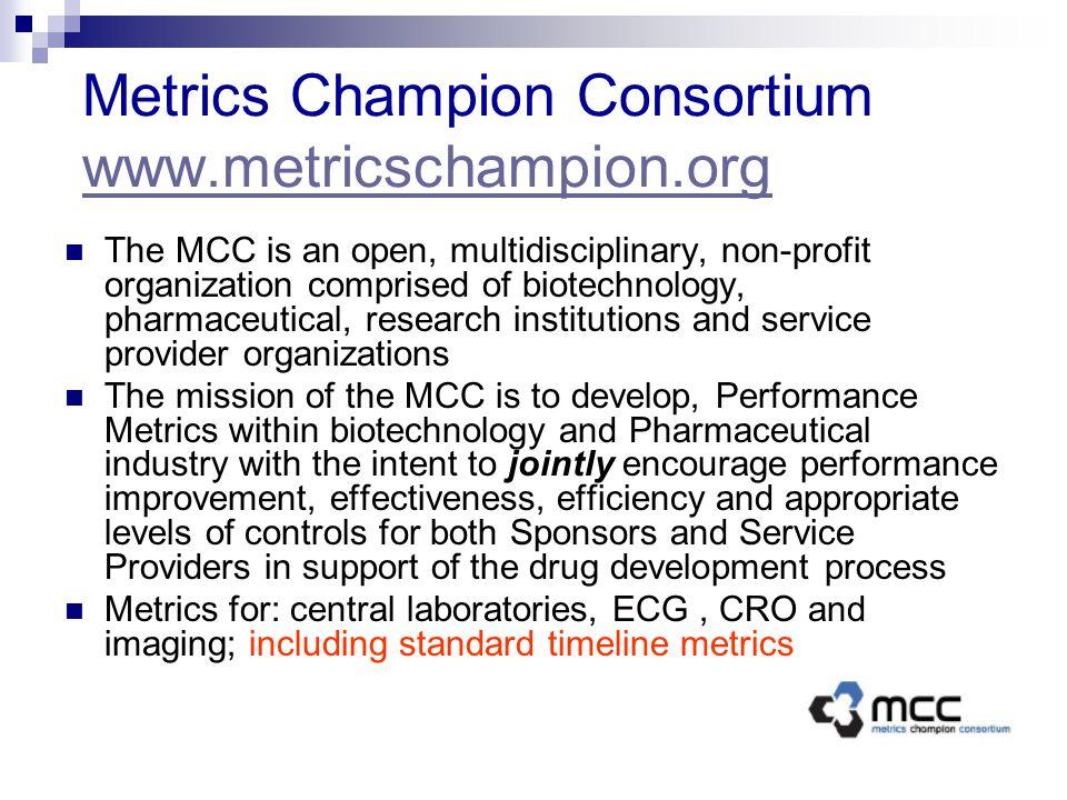 Metrics Champion Consortium www.metricschampion.org
