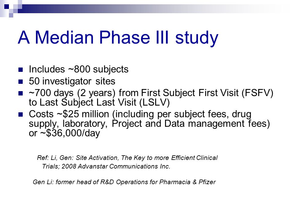 A Median Phase III study