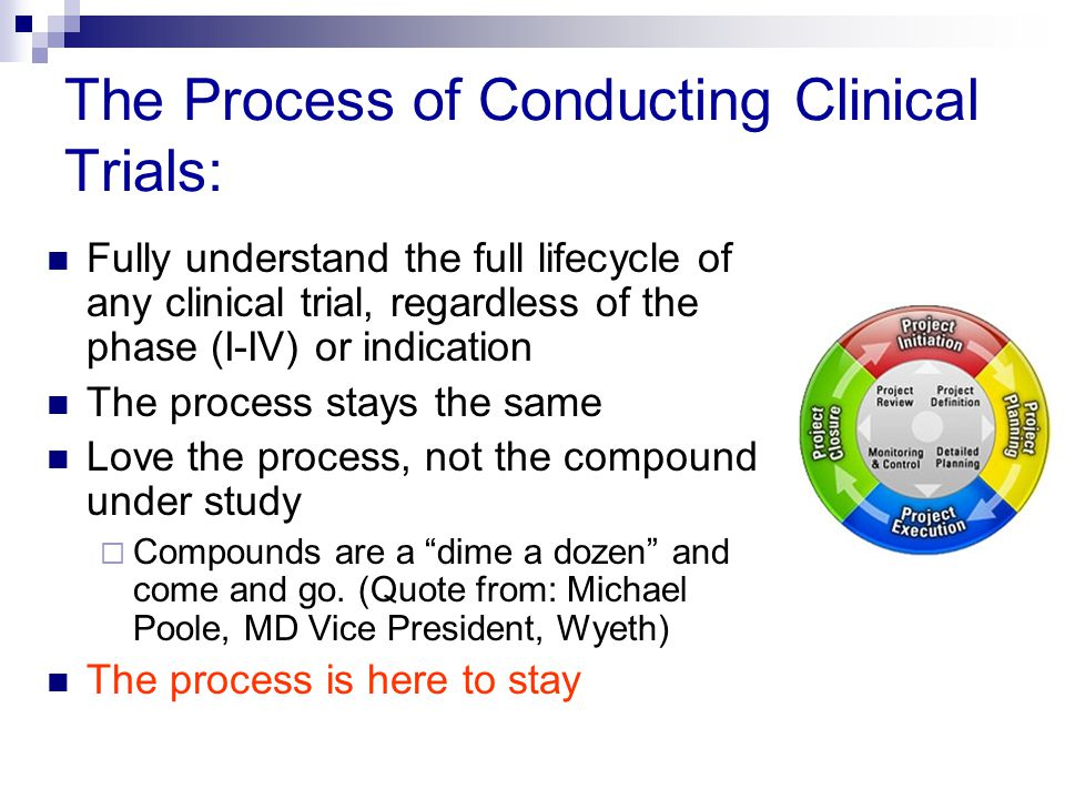 The Process of Conducting Clinical Trials: