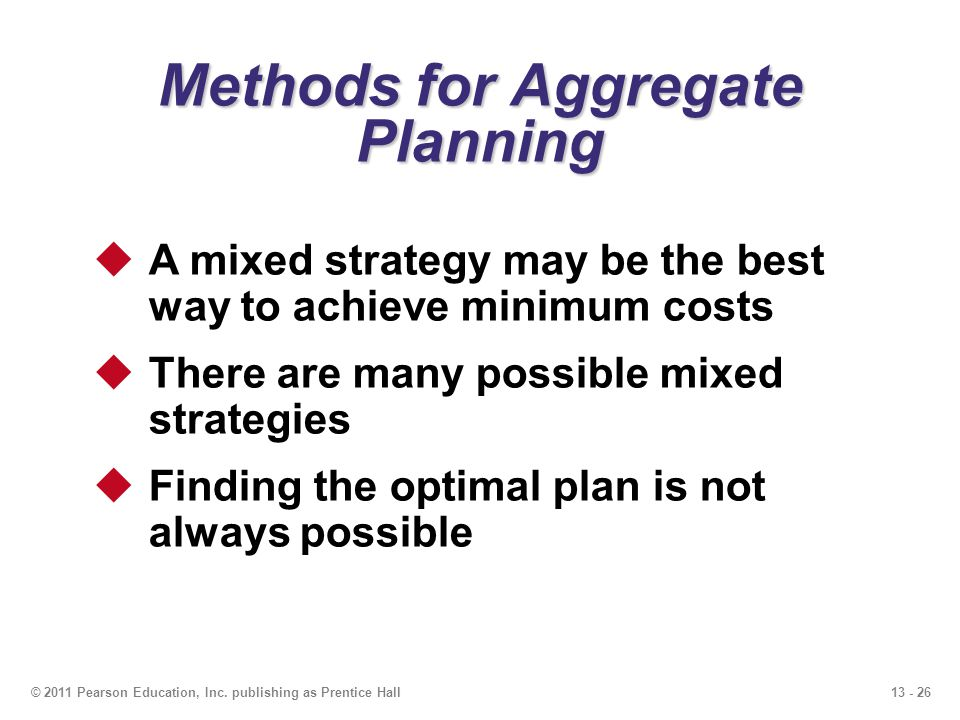 Methods for Aggregate Planning