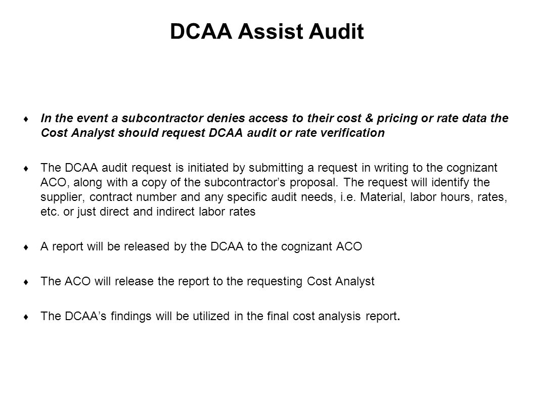 DCAA Assist Audit