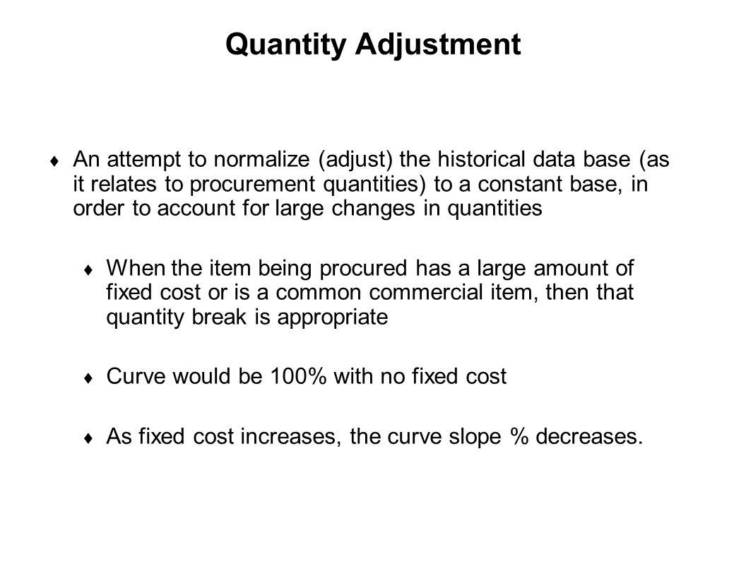 Quantity Adjustment