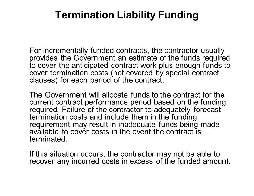 Termination Liability Funding