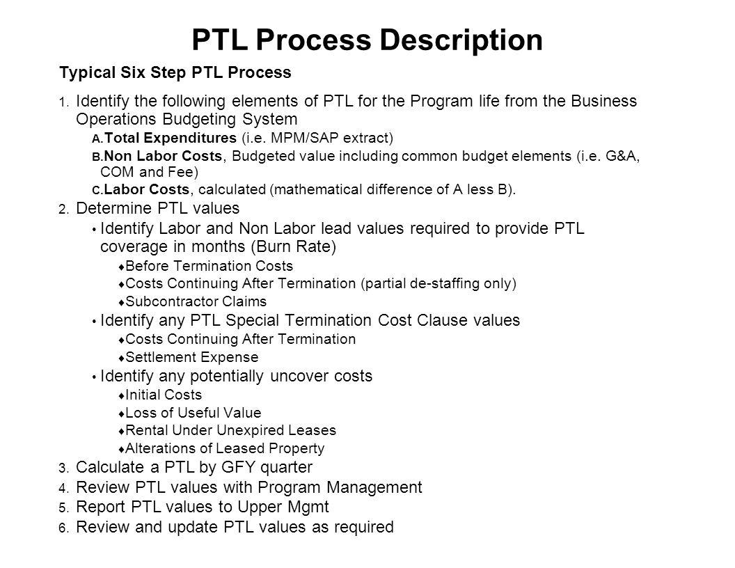 PTL Process Description
