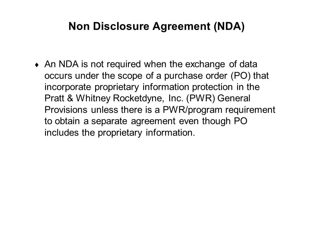 Non Disclosure Agreement (NDA)