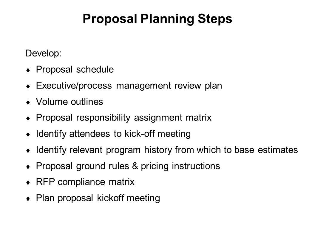 Proposal Planning Steps