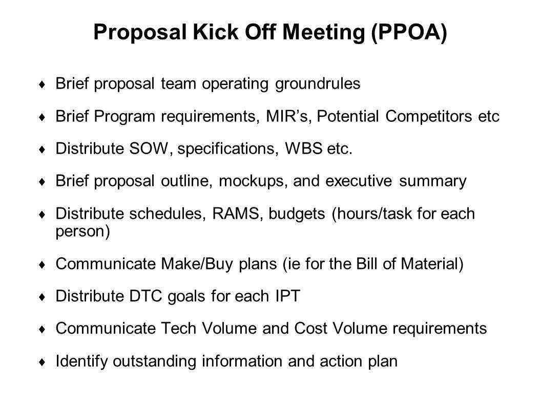 Proposal Kick Off Meeting (PPOA)