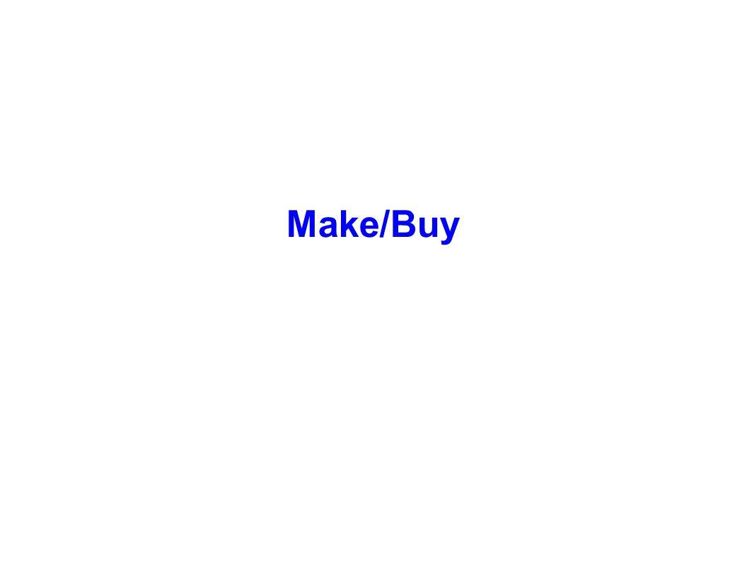 Make/Buy