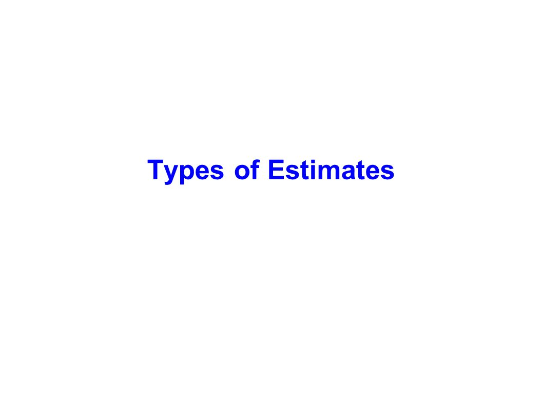 Types of Estimates