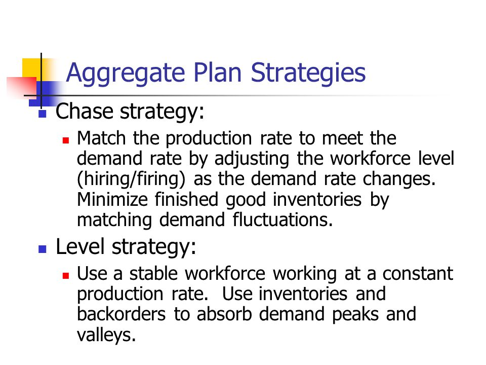 Aggregate Plan Strategies