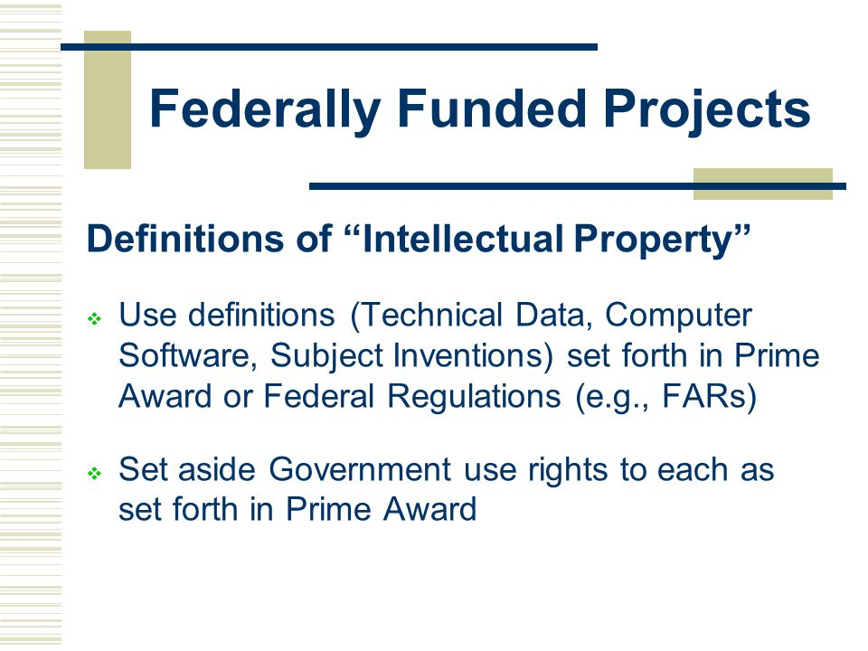 Federally Funded Projects