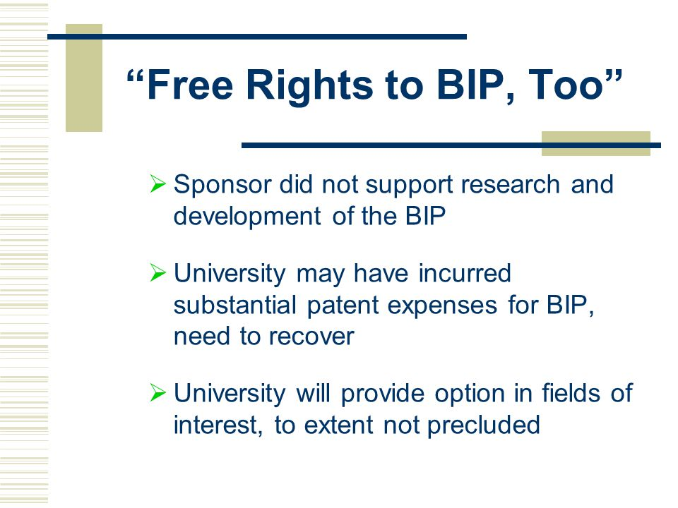 Free Rights to BIP, Too