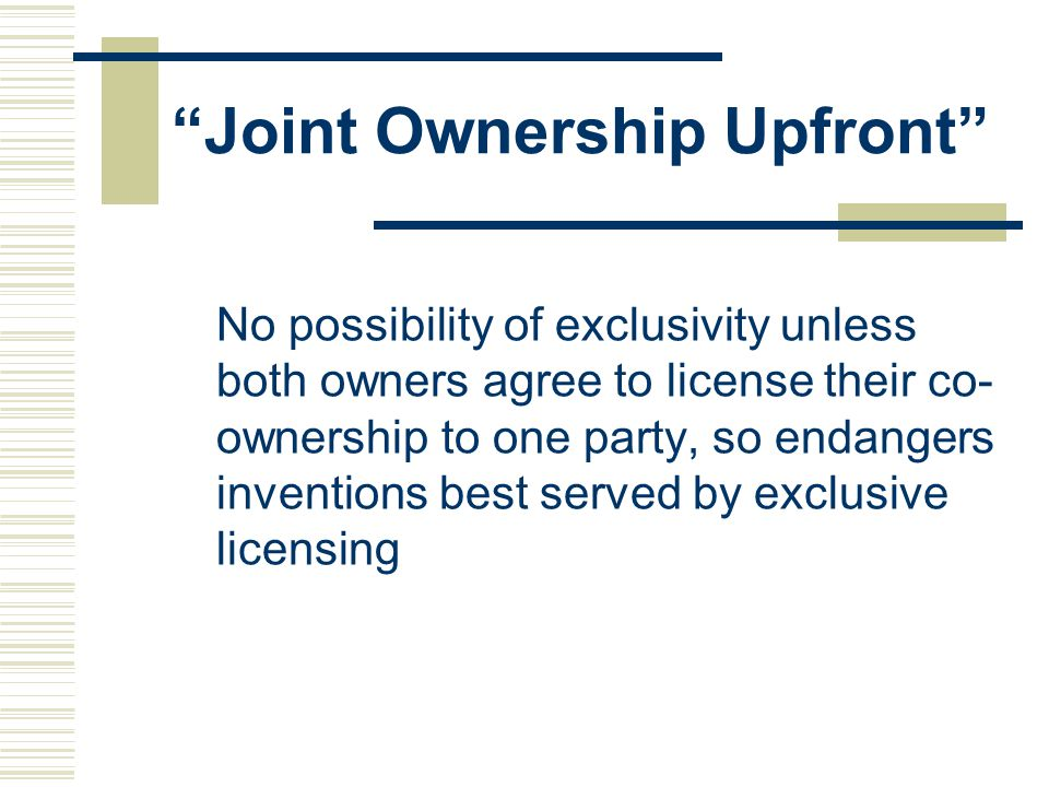 Joint Ownership Upfront