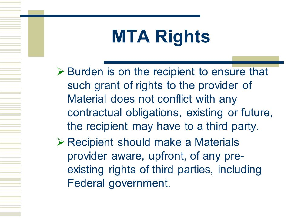 MTA Rights