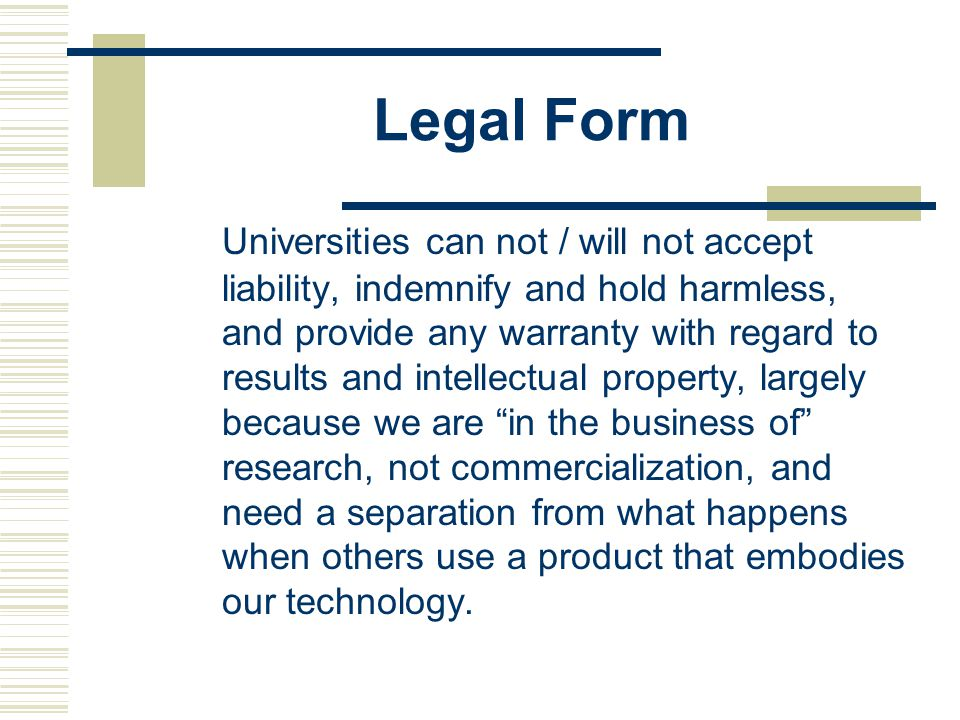 Legal Form