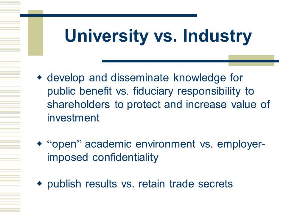 University vs. Industry