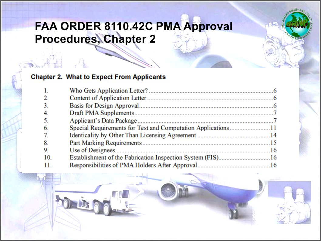 FAA ORDER 8110.42C PMA Approval Procedures, Chapter 2