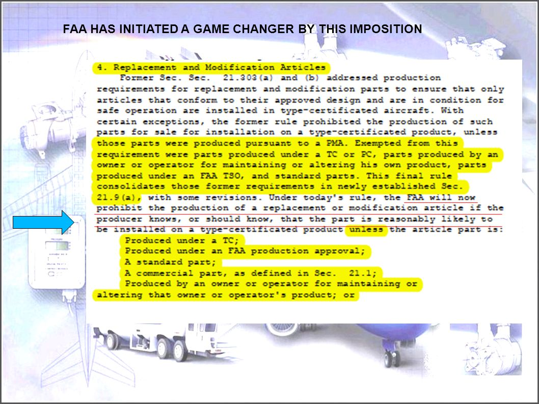 FAA HAS INITIATED A GAME CHANGER BY THIS IMPOSITION