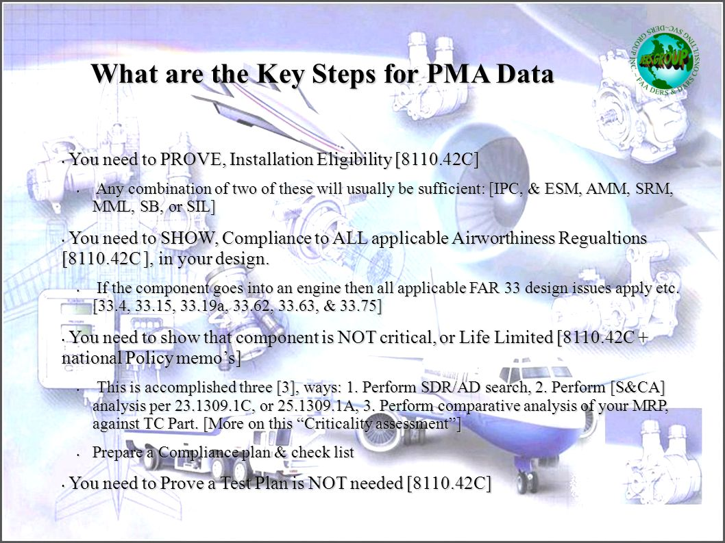 What are the Key Steps for PMA Data